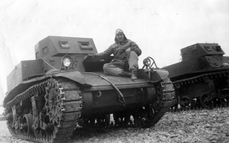 ​Light Tank M1A1 from the 4th Armoured Division, fall of 1941. The former combat cars lived out the rest of their life as training tanks - Combat Car M1: Armour for American Cavalry | Warspot.net
