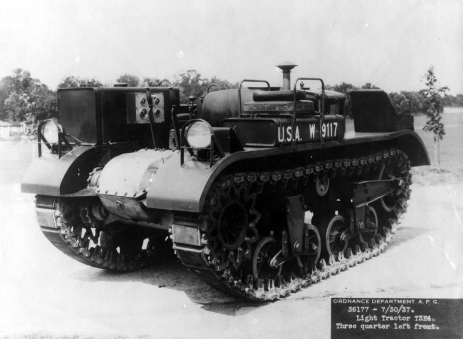 ​The first T3E4 Tracked Light Tractor. The other vehicles were converted in the same way - Combat Car M1: Armour for American Cavalry | Warspot.net