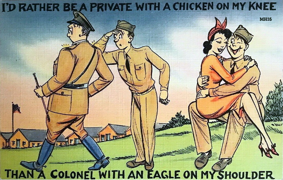 ​ - I'd rather be a private with a chicken on my knee, than a colonel with an eagle on my shoulder | Warspot.net