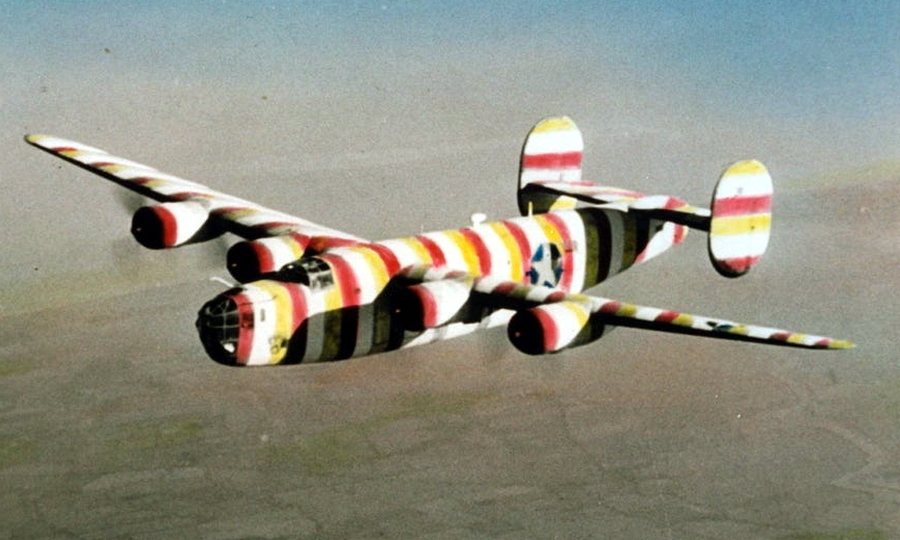 "​B-24D ""Barber Bob"" with serial number 41-23667 from the 93rd Bomb Squadron. Traditionally, the poles painted in blue and white stripes were put next to barber's shops, which gave the nickname to the aircraft - Highlights for Warspot: Judas goats and polka dot 