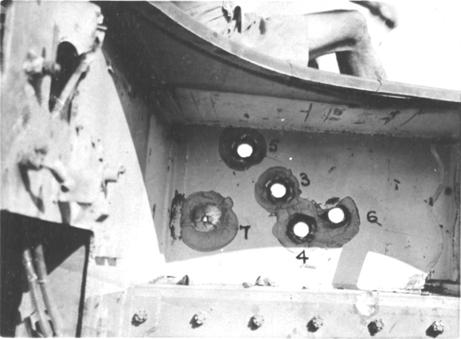 ​View from the inside. Penetrations of the Tiger's armour were accompanied by severe flaking - Tiger Killers | Warspot.net