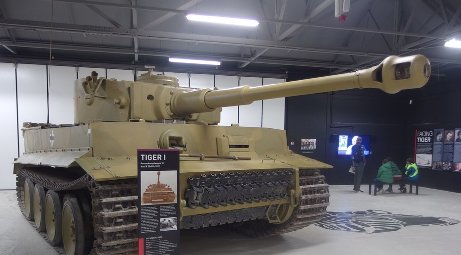 ​Tiger 131 at the Bovington Tank Museum, the only surviving Tiger tank in working order today - Tiger Killers | Warspot.net