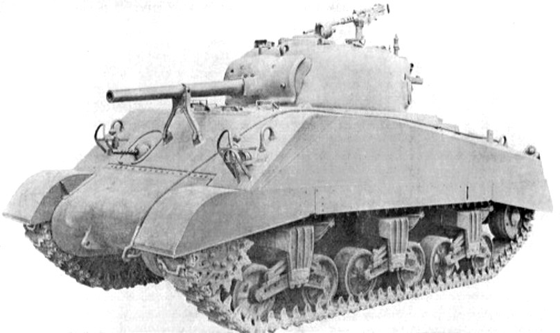 ​There was little to distinguish the M4A3 from other welded hull Shermans from the front - The Most American Sherman | Warspot.net
