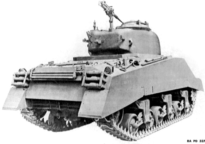 ​The difference from the back is more noticeable: note the rear plate and grille protecting the air intakes - The Most American Sherman | Warspot.net