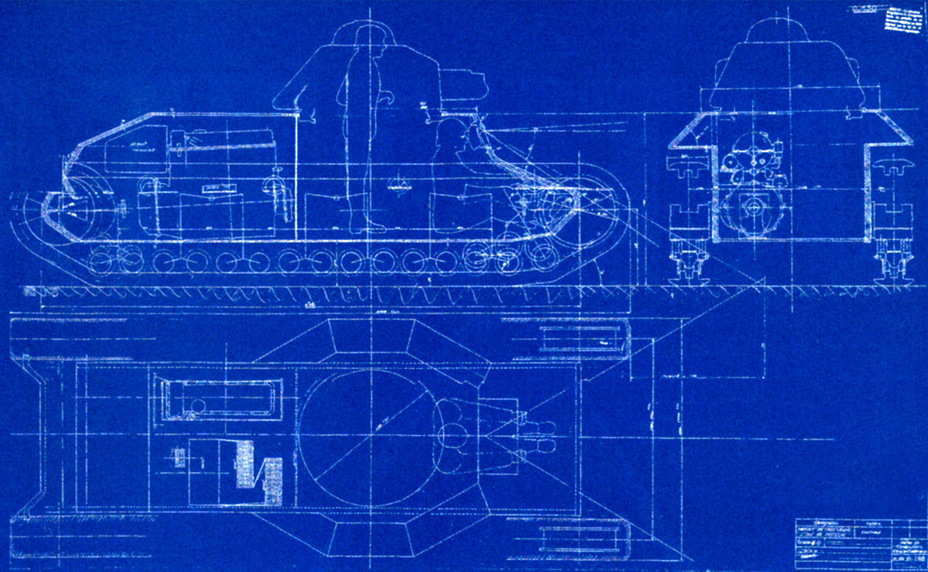 ​Initial design of the AMX light tank, dated March 26th, 1938 - AMX 38: A Tank Between Classes | Warspot.net