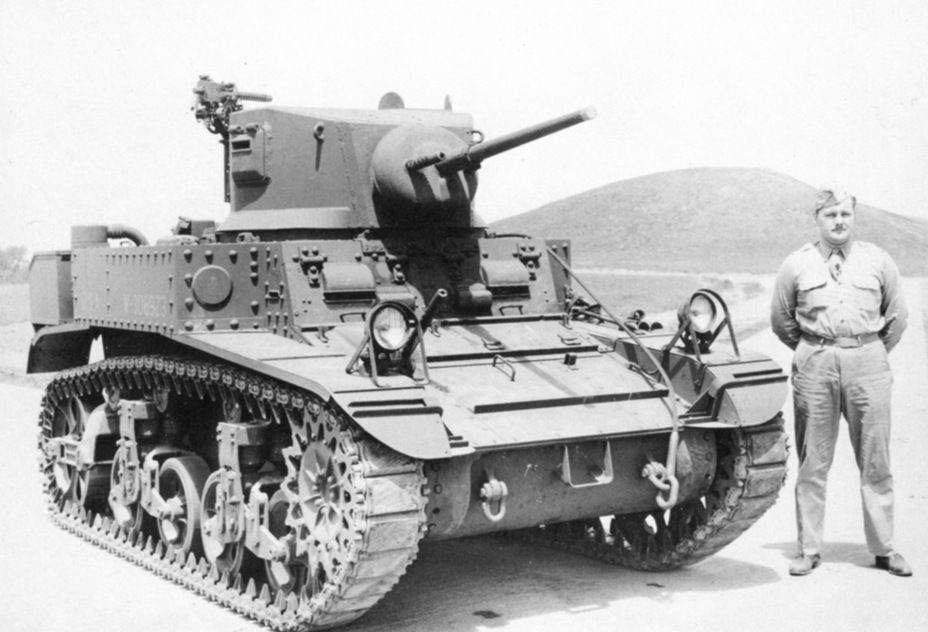 ​The first experimental prototype of a Light Tank M3A1. The tank has a riveted hull - M3A1: Light Tank with a Hard Fate | Warspot.net