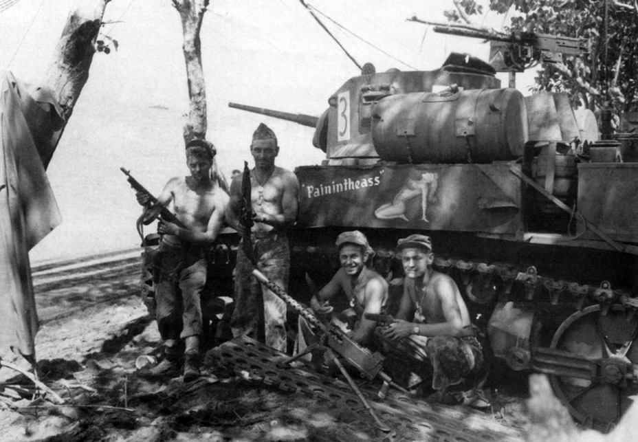 ​Crew from the 3rd Battalion, 3rd Marine Division, Bougainville, 1943 - M3A1: Light Tank with a Hard Fate | Warspot.net