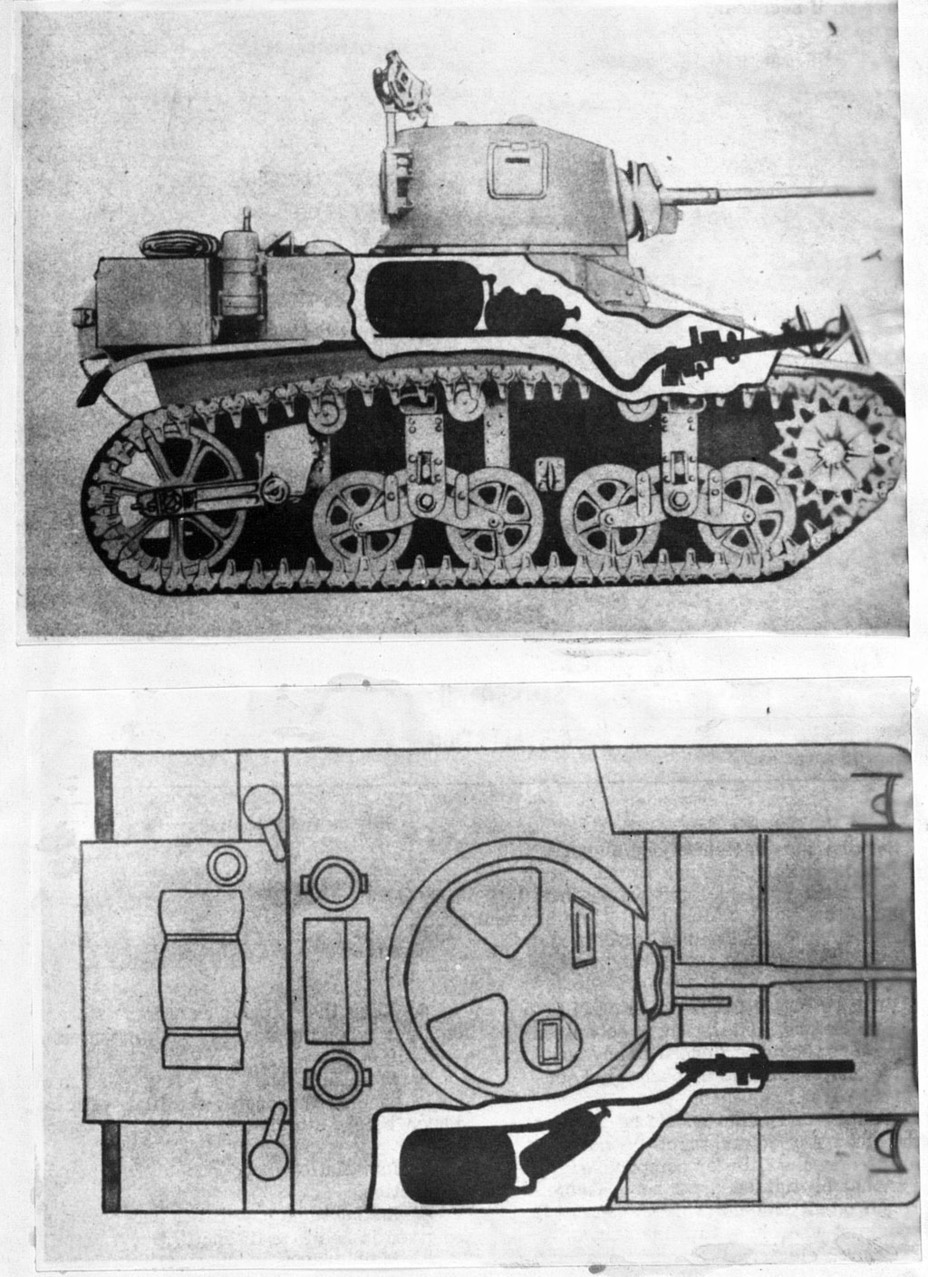 ​A flamethrower installed instead of the hull machinegun. This replacement proved unpopular - M3A1: Light Tank with a Hard Fate | Warspot.net