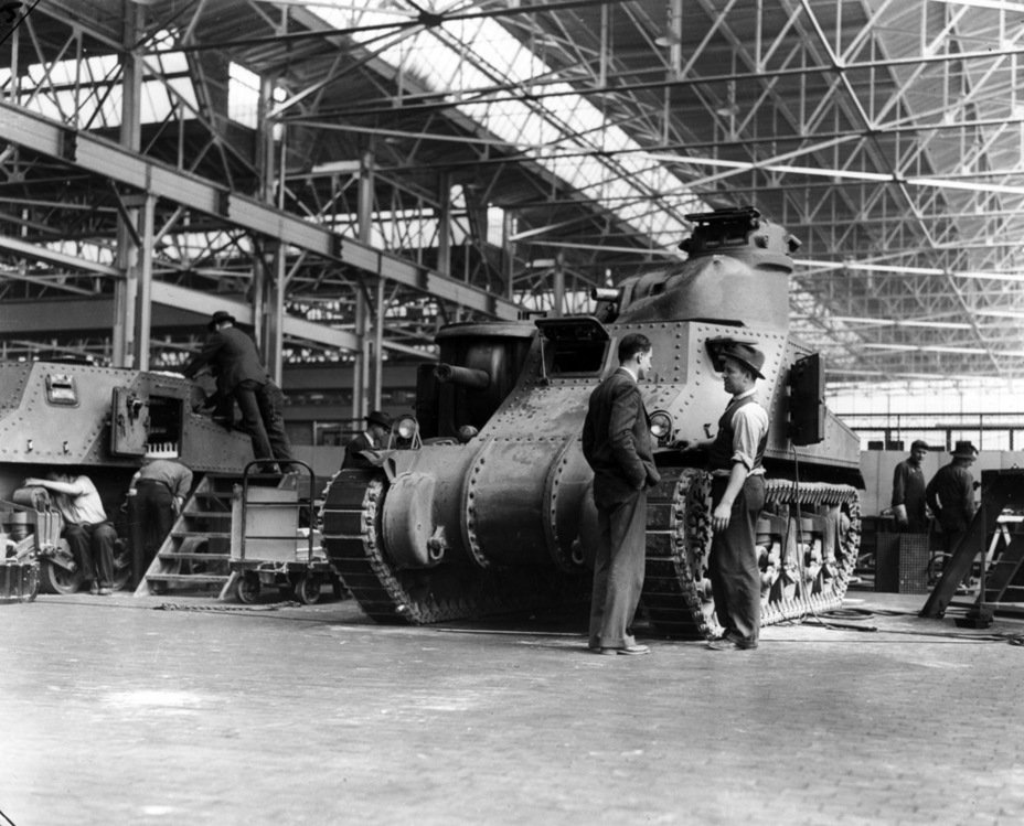 ​Assembly of tanks at the Detroit Arsenal - Medium Tank M3 | Warspot.net