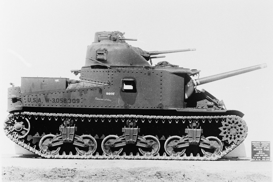 ​The last of the Medium Tanks M3. As you can see, the hatches on the sides were removed - Medium Tank M3 | Warspot.net