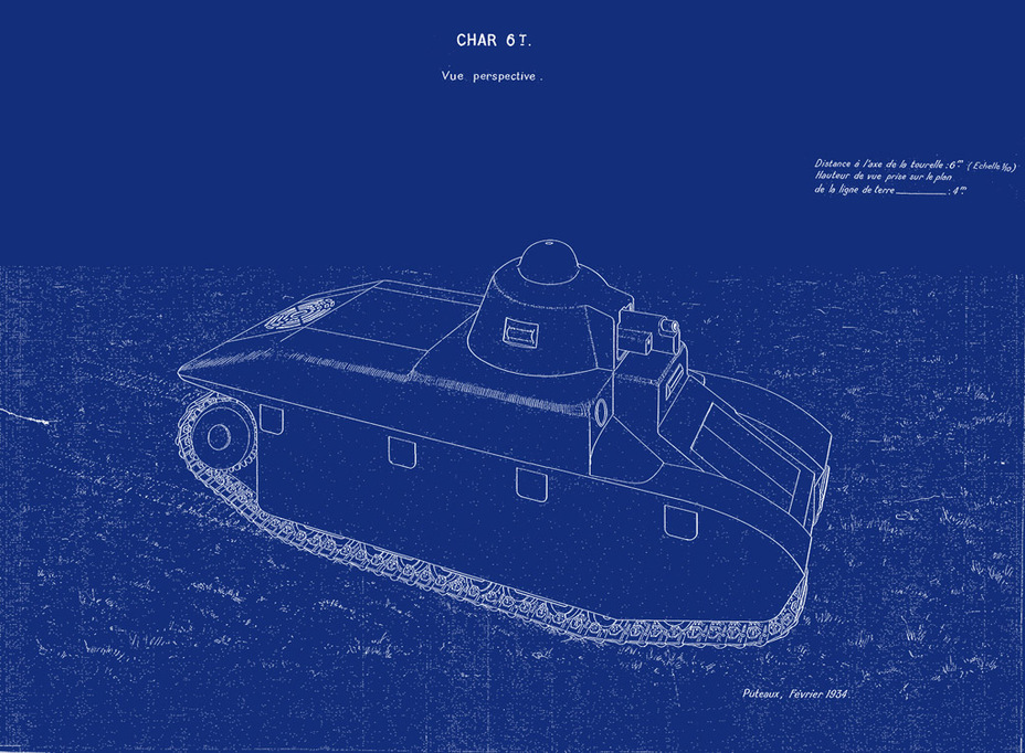 ​The initial design of the 6 ton APX tank, February of 1934 - FCM 36: Ahead of its Time | Warspot.net