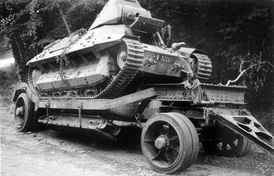 ​Due to a low top speed, the FCM 36, as well as other French tanks, were transported across large distances by trucks or on heavy duty trailers - FCM 36: Ahead of its Time | Warspot.net