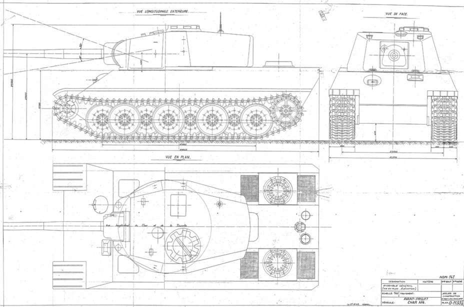 ​The final variant of the AMX M4, December 27th, 1945. This is what the tank would look like if it was ever built in metal - AMX M4: Third Reich Serving the Fourth Republic | Warspot.net