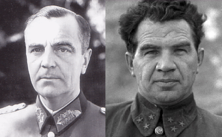 ​Future Field Marshal Friedrich Wilhelm Ernst Paulus and future Marshal of the Soviet Union Vasily Chuikov. If ranks are about the same, the circumstances of awarding them were slightly different - Unknown Stalingrad: «Grenade, Grenade, My Grenade…» | Warspot.net