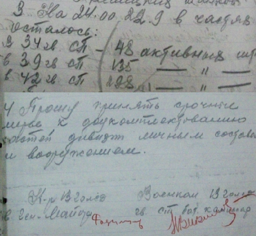 ​Extract from the 13th GRD report to the Army headquarters, the number of regiments after the battle on September 22 - Unknown Stalingrad: «Grenade, Grenade, My Grenade…» | Warspot.net