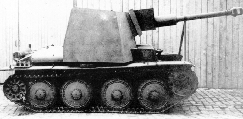 ​7.5 cm Stu.Kan. auf Pz.Kpfw.38(t). This project did not move past the production of a prototype - Marder III: German Tank Destroyer on a Czech Chassis | Warspot.net