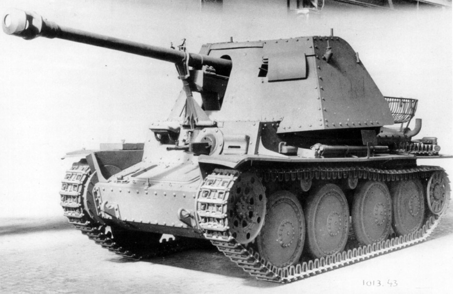 ​Sfl.38 prototype, June 1942 - Marder III: German Tank Destroyer on a Czech Chassis | Warspot.net