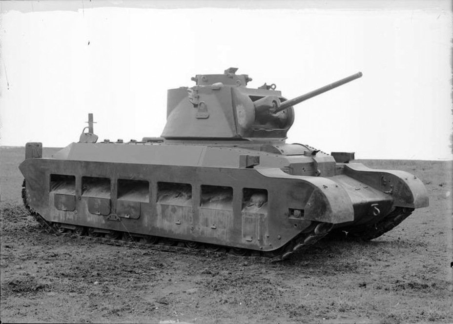 ​The first experimental Infantry Tank A12E1, summer of 1938 - Short-Term Queen of the Desert | Warspot.net