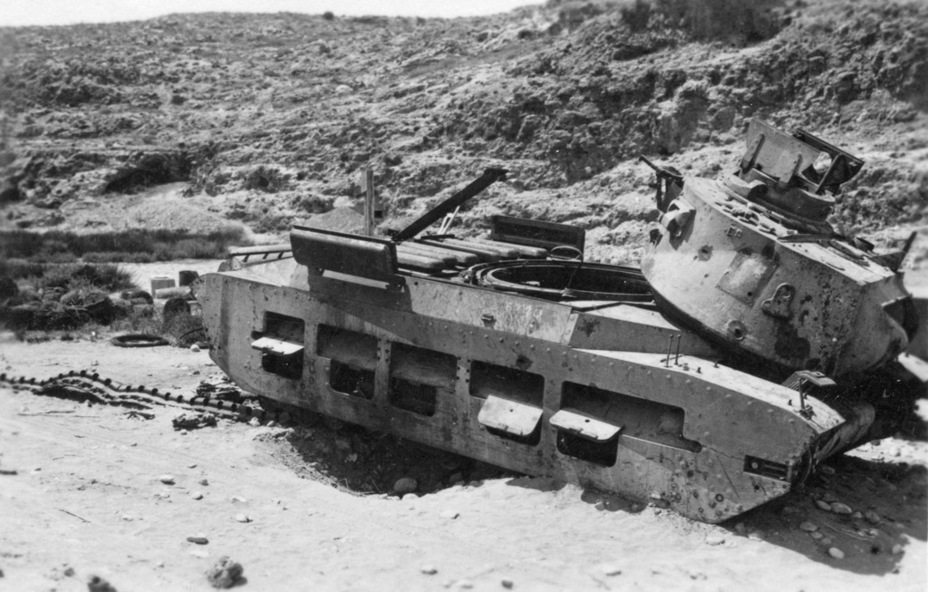 ​A victim of the German 88 mm gun. A good hit could knock the turret off - Short-Term Queen of the Desert | Warspot.net