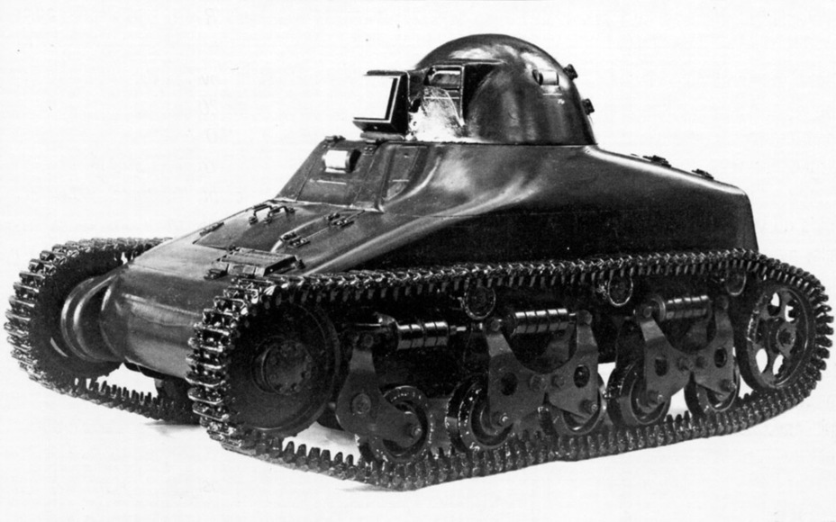 ​Renault ZM light tank model. Note the turret: it was only like this on the model - Renault R 35: More for Less  | Warspot.net