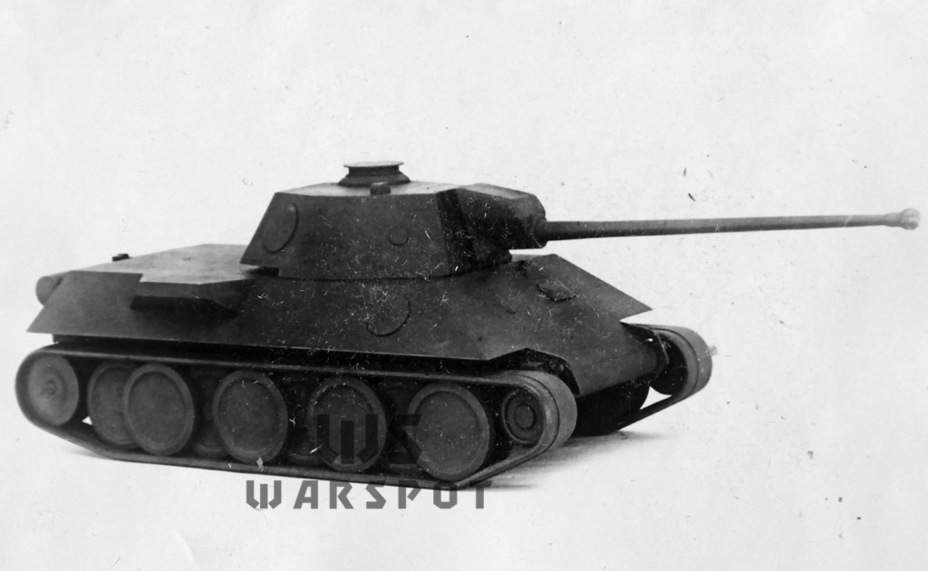 ​A model of the VK 30.01(D) medium tank, spring 1942. Daimler-Benz clearly chose the T-34 tank as a subject for imitation - Panther's Ancestors | Warspot.net
