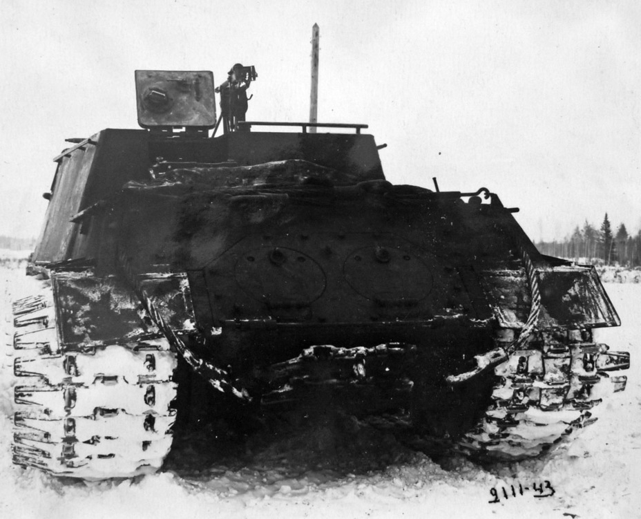 ​The vehicle during trials. As you can see, some of the extensions already broke off - ISU-122 Heavy Tank Destroyer | Warspot.net