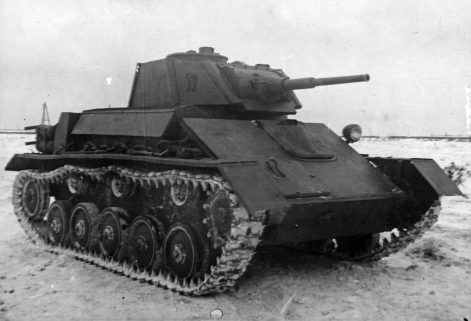 ​The experimental T-80 at the NIBT proving grounds, December 1942 - The First T-80 | Warspot.net