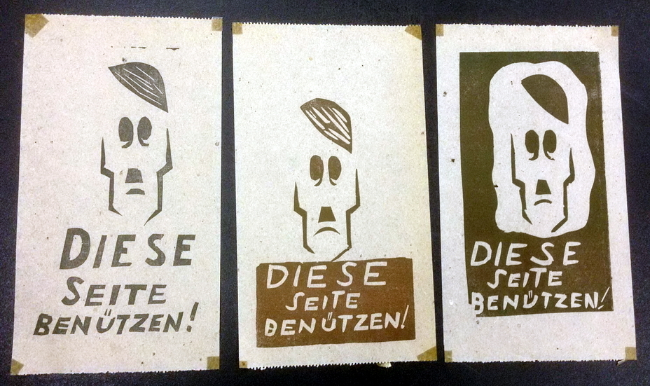 ​Toilet paper manufactured in Italy by Americans, that says «Use this side» (http://saulsteinbergfoundation.org) - Highlights for Warspot: faces of enemy leaders | Warspot.net