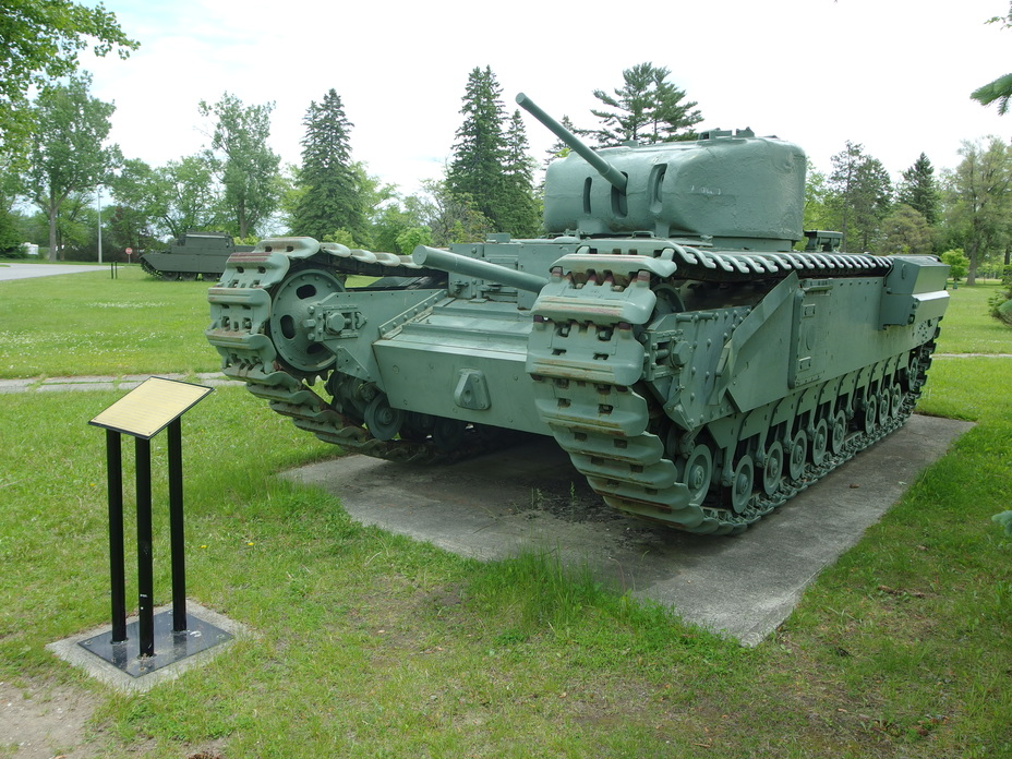 ​Infantry Tank Mk.IV or Churchill, Base Borden. This tank was considered as a potential option for a Canadian built tank, but it would have been too heavy and complex to build in Canada - Canadian Valentines | Warspot.net