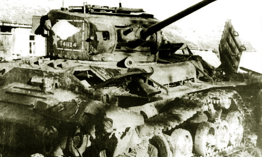 ​A Canadian made Valentine tank belonging to the 5th Guards Tank Brigade lost in battle - Canadian Valentines | Warspot.net