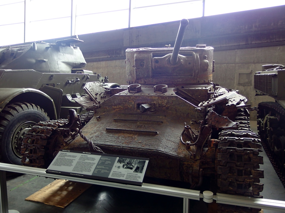 ​A Valentine VIIA tank lost in battle in January of 1944 and returned to Canada in 1992, Canadian War Museum, Ottawa - Canadian Valentines | Warspot.net