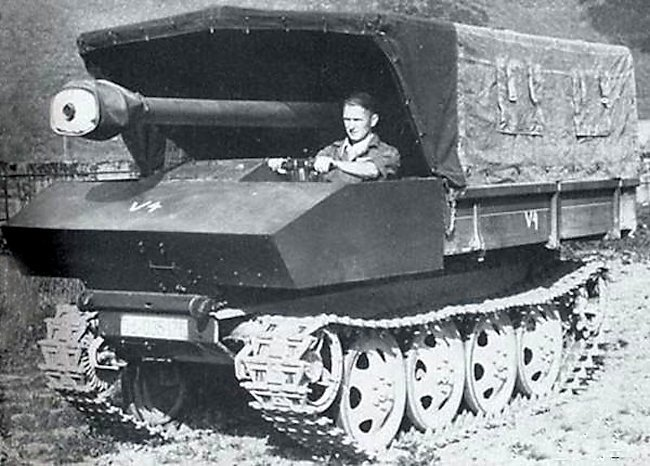 The V4 prototype in travel position - An Ersatz Tank Destroyer from an Ersatz Tractor | Warspot.net