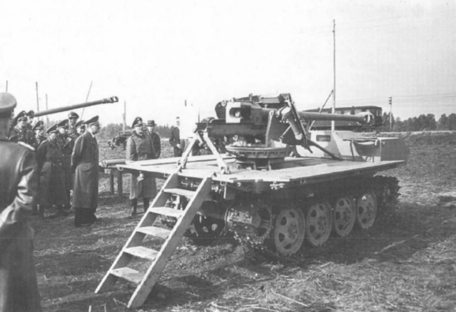 ​Hitler inspects the tank destroyer, October 1st, 1943 - An Ersatz Tank Destroyer from an Ersatz Tractor | Warspot.net