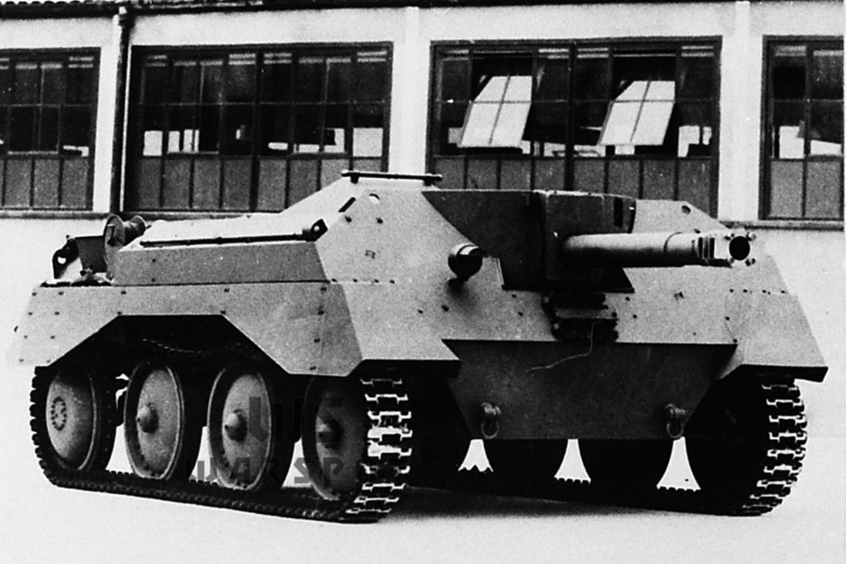 ​The first Alecto I prototype. The gun has a characteristic muzzle brake, which was later removed - Pocket Fury | Warspot.net