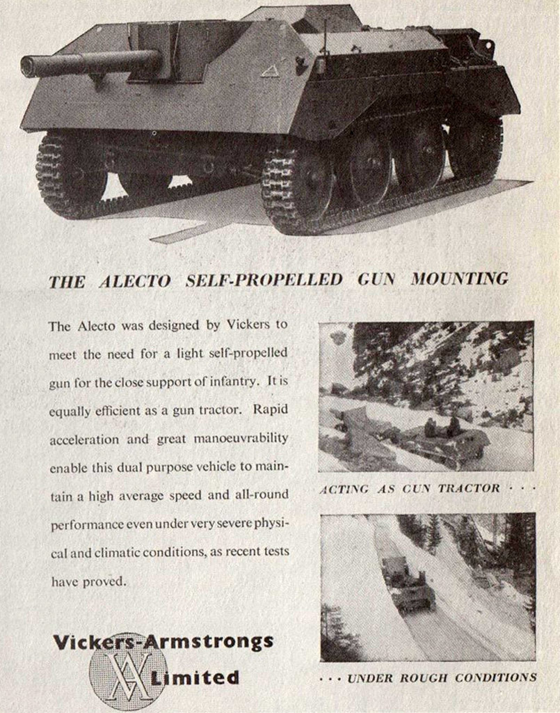 ​An advertisement put out by Vickers-Armstrongs showing an Alecto artillery tractor - Pocket Fury | Warspot.net
