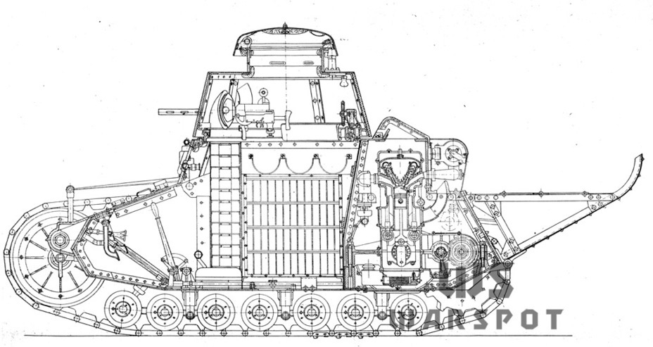​Cutaway of an T-18 from the first batch - T-18: Mass Produced Answer to Chamberlain | Warspot.net