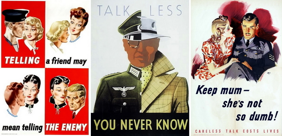 ​More British posters. Indeed, while talking with a friend, you can tell something important to the enemy, so it is better to keep quiet. You never know who is in front of you, and this simple-minded chick might not be so stupid! - Highlights for Warspot: world-wide vow of silence | Warspot.net
