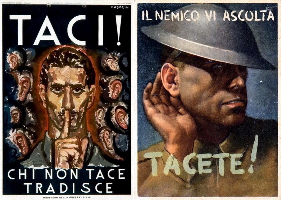 ​Italian posters are calling for silence in order to leave the Briton in the recognizable helmet Brodie in the cold - Highlights for Warspot: world-wide vow of silence | Warspot.net