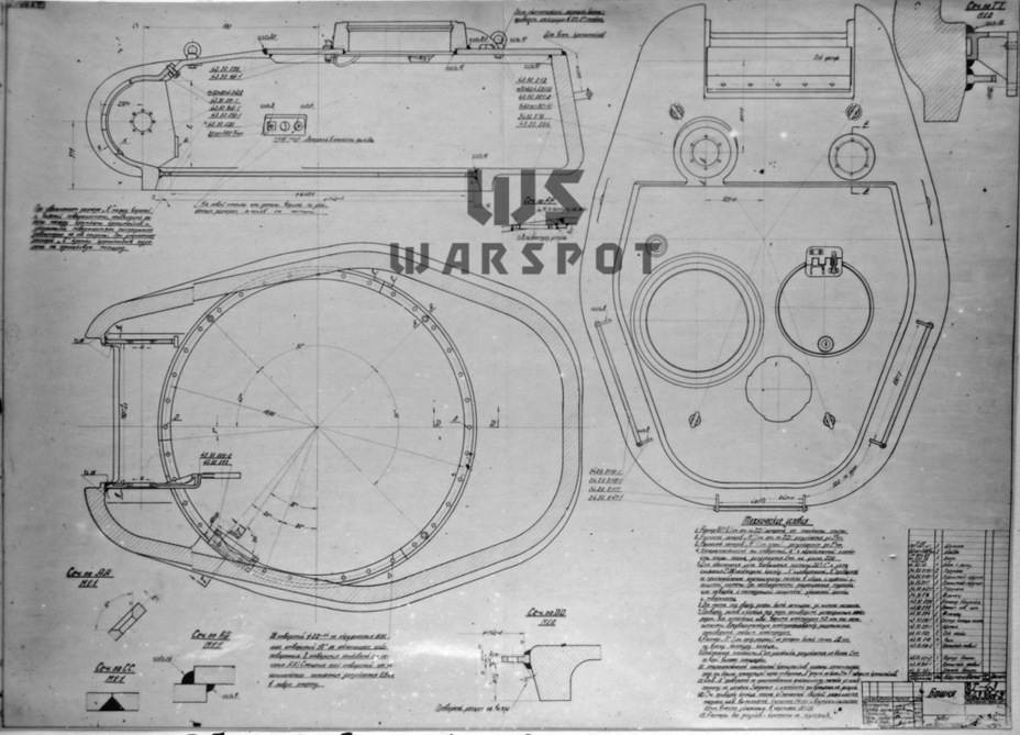 ​The improved T-43 had a completely different turret. The turret ring diameter was enlarged and the commander was moved to the left - T-43: an Intermediate Step | Warspot.net
