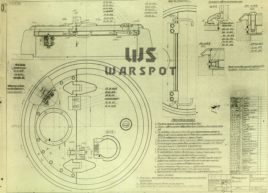 ​The design of the commander's cupola was vastly different compared to the one designed for the first T-43 - T-43: an Intermediate Step | Warspot.net