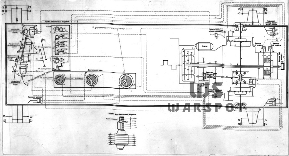 ​Transmission of the Sh-IIa. The planetary gearbox was used by Shashmurin when designing the gearbox for the KV-1 tank - Courtesy Visit | Warspot.net