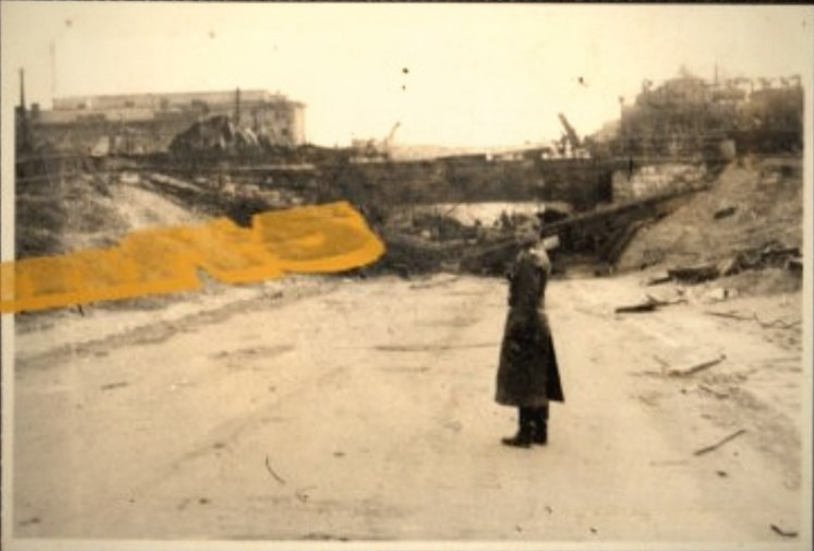 ​Viaduct on Kubanskaya Street, German photo taken after the end of fighting in the area - Unknown Stalingrad: The City Garden | Warspot.net