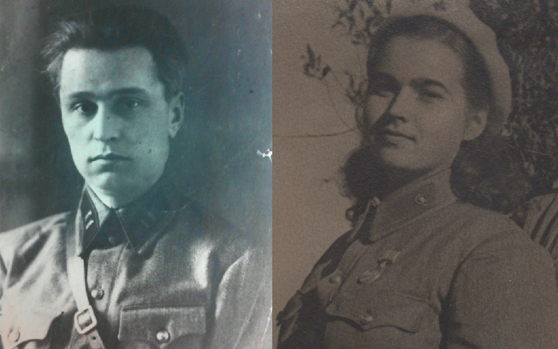 "​On the left is battalion commissar Ivan Methodievich Shcherbina, who was killed on September 24 during the breakout from the bunker in Komsomol Square. On the right is the military assistant of the 272nd NKVD Regiment, 21-year-old Vera Iosifovna Rybakova, who «remained until the end with the military commissar."" On the night of September 25, together with a group of volunteers, Rybakova took out from the battlefield and buried the body of the military commissar - Unknown Stalingrad: The City Garden 