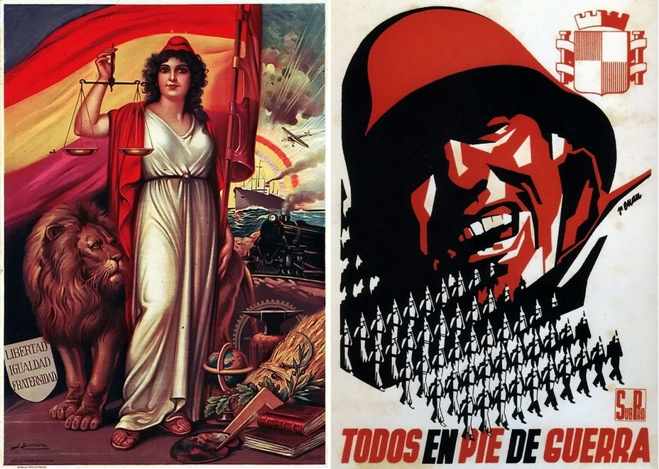 ​The left poster depicts an allegorical image of the Republic. The picture on the right is simple and effective: «All to the battle!» - Highlights for Warspot: The last romantic war | Warspot.net