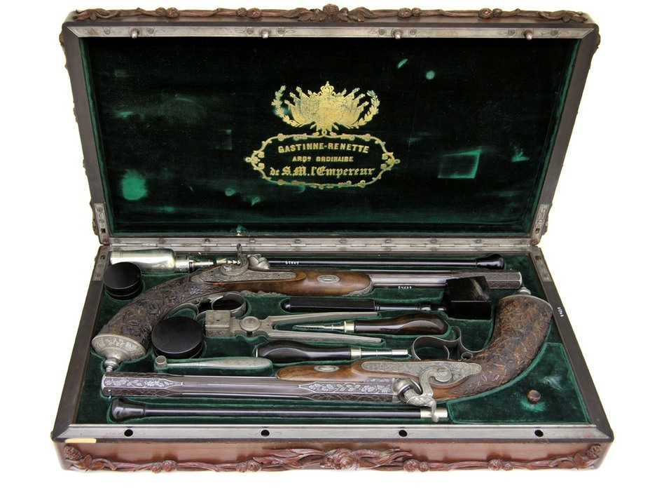 ​A set of Spanish dueling pistols from the first half of the 19th century. — portal.protecturi.org - In memory of past greatness | Warspot.net