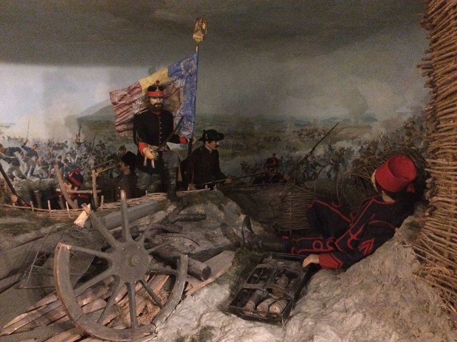 ​Small diorama «Storm of Plevna». Photo by the author - Romanian military history from antiquity to the 21st century | Warspot.net