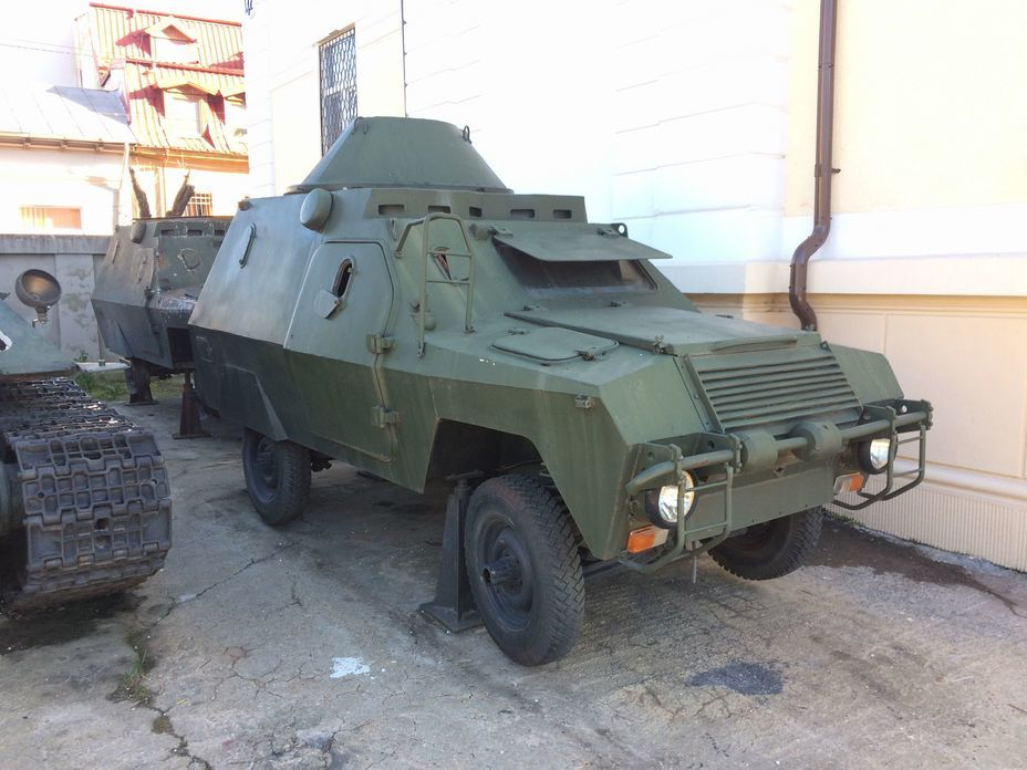 ​Police armored car ABI. 17 cars were produced in 1979 on the chassis of the «Romanian UAZ» ARO 240. Several more cars were later sold to Algeria. Photo by the author - Romanian military history from antiquity to the 21st century | Warspot.net