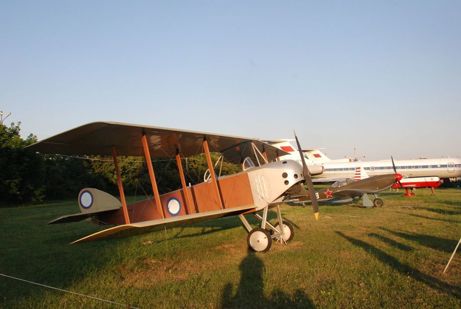 "​Anatra-Anasal reconnaissance aircraft from the First World War. The museum has a 1:1 copy, made by the Odesa Aircraft Repair Plant — the «heir» of the ""Anatra"" plant in Odesa. Photo by the author - «Hidden» Aviation Museum 