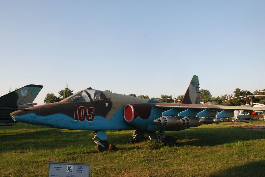 ​Attack aircraft Su-25. Photo by the author - «Hidden» Aviation Museum | Warspot.net