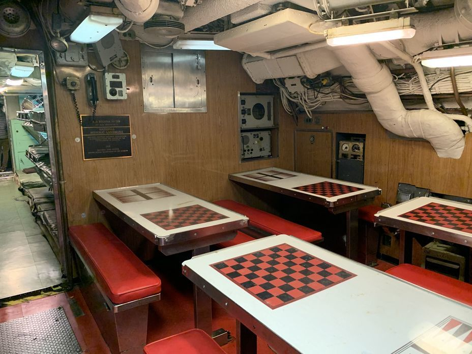 ​Crew mess. Photo by the author - Interesting Mismatch | Warspot.net